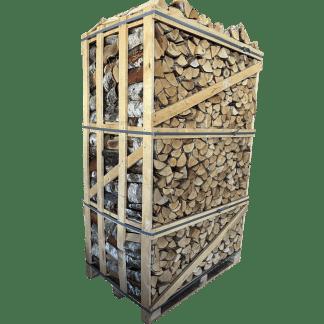 Berkenhout Haardhout Zijaanzicht Megapallet
